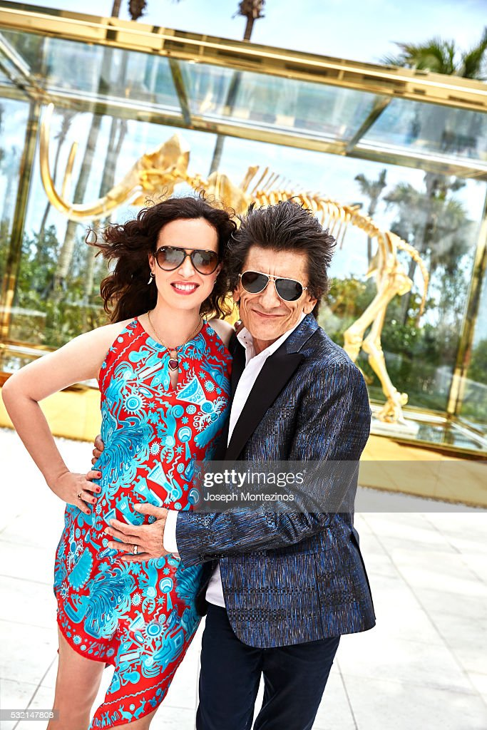 Ronnie Wood and Sally Wood are photographed for Hello! UK on March 28, 2016 in Miami, Florida. COVER