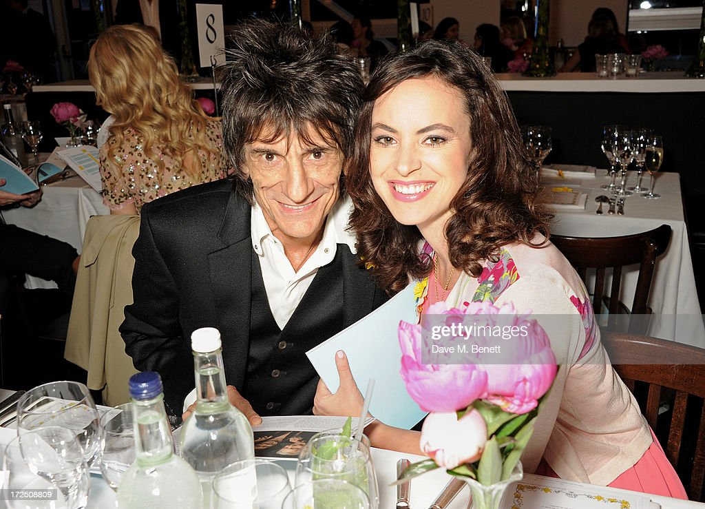 Ronnie Wood (L) and Sally Wood attend The Masterpiece Midsummer Party in aid of Marie Curie Cancer Care, hosted by Heather Kerzner, at The Royal Hospital Chelsea on July 2, 2013 in London, England. Marie Curie Nurses provide free end of life care to patients with terminal illness in their own homes or in one of its nine hospices.