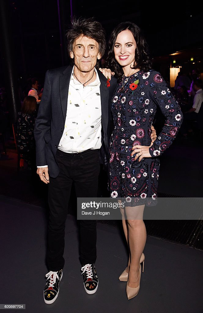 Ronnie Wood (L) and Sally Wood attend The Stubhub Q Awards 2016 at The Roundhouse on November 2, 2016 in London, England.