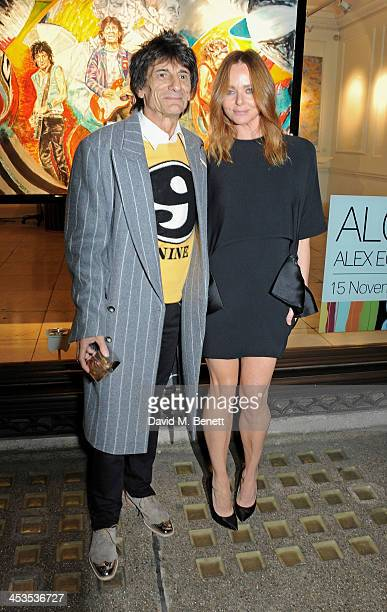 Ronnie Wood and Stella McCartney attend the Stella McCartney Christmas Lights Switch On at the Stella McCartney Bruton Street Store on December 4...