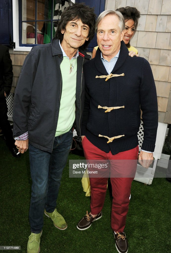 Ronnie Wood (L) and Tommy Hilfiger attend the launch of the new Tommy Hilfiger pop up shop at Tommy Hilfiger 'Prep World' Covent Garden on May 5, 2011 in London, England.
