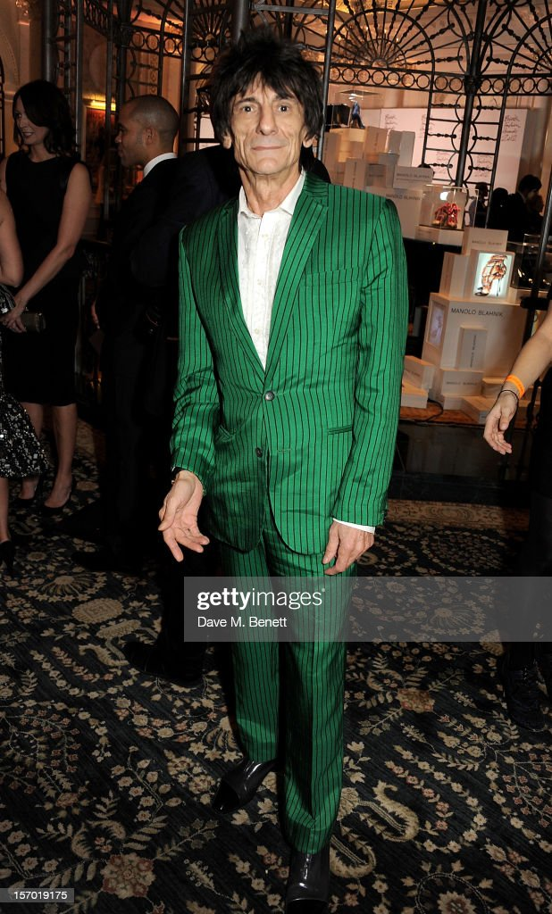 Ronnie Wood attends a drinks reception at the British Fashion Awards 2012 at The Savoy Hotel on November 27, 2012 in London, England.
