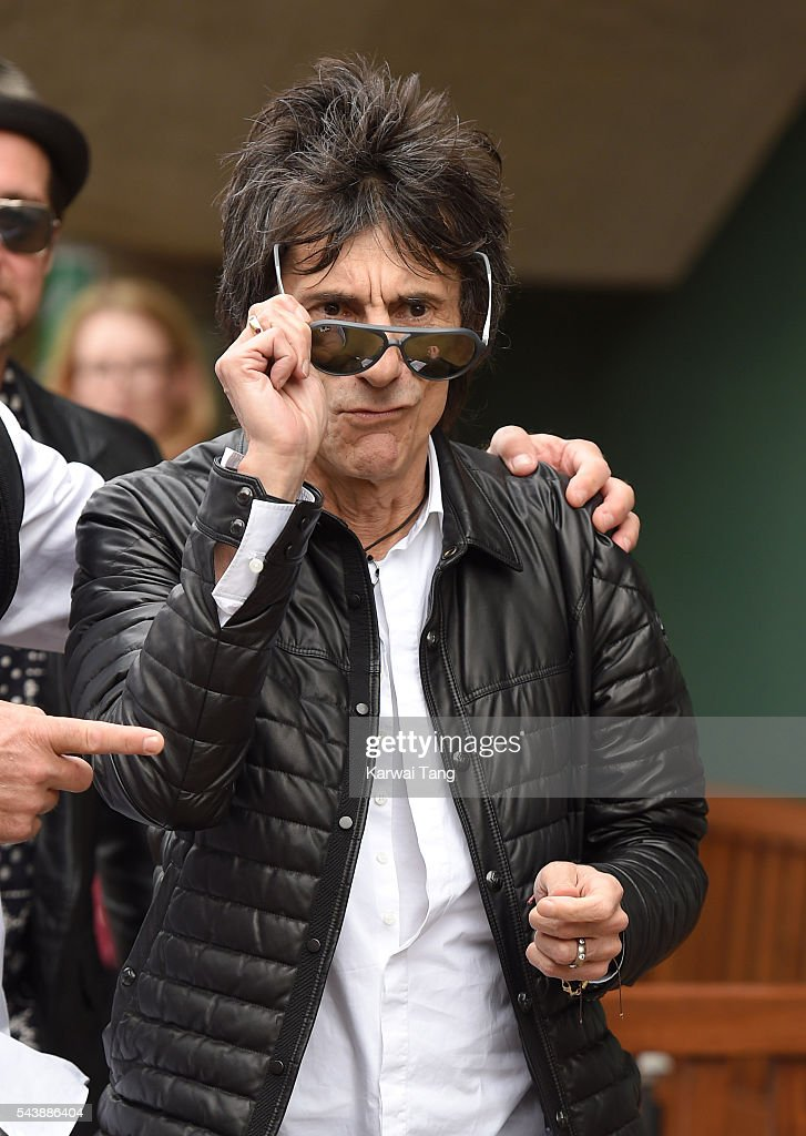 Ronnie Wood attends day four of the Wimbledon Tennis Championships at Wimbledon on June 30, 2016 in London, England.