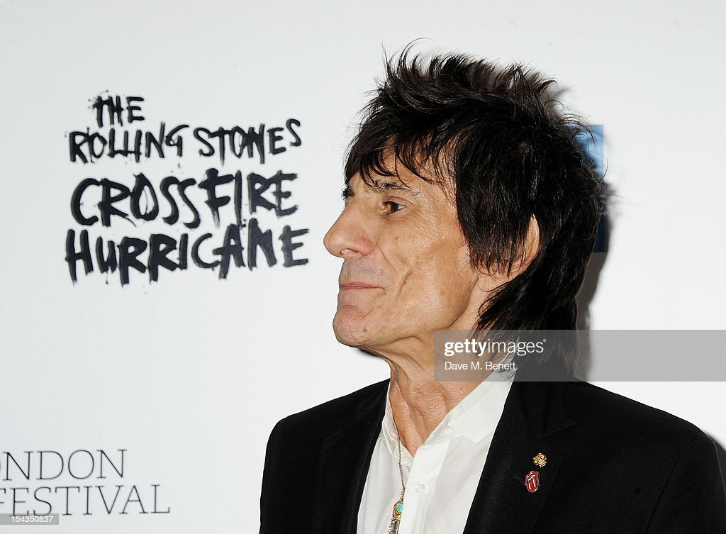 Ronnie Wood attends the Gala Premiere of 'Crossfire Hurricane' during the 56th BFI London Film Festival at Odeon Leicester Square on October 18, 2012 in London, England.
