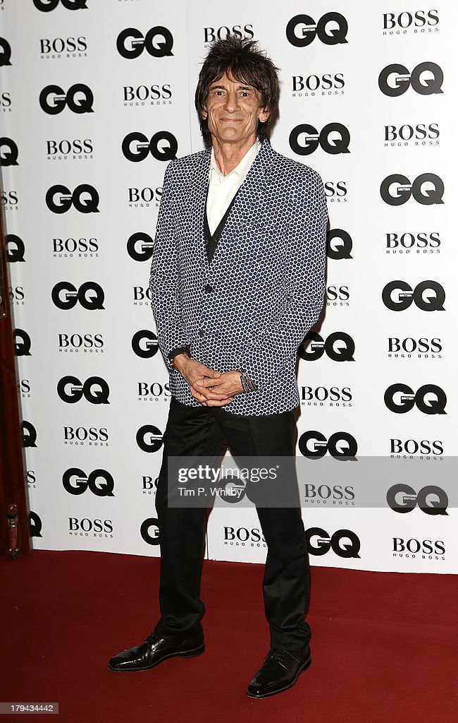 Ronnie Wood attends the GQ Men of the Year awards at The Royal Opera House on September 3, 2013 in London, England.