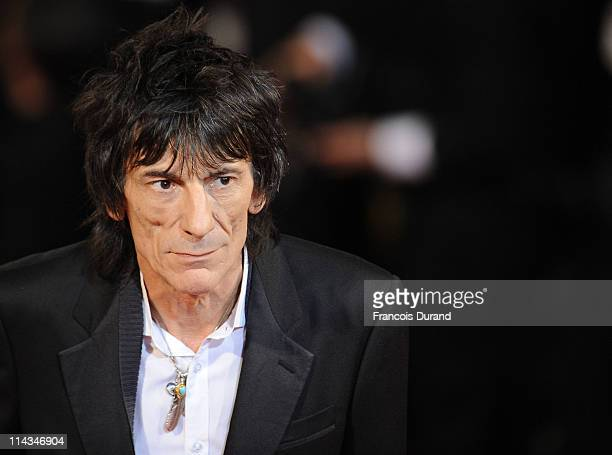 Ronnie Wood attends the 'Melancholia' premiere during the 64th Annual Cannes Film Festival at Palais des Festivals on May 18 2011 in Cannes France