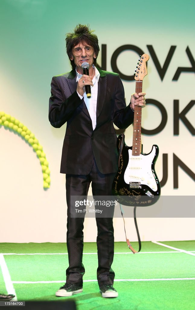 Ronnie Wood attends the Novak Djokovic Foundation inaugural London gala dinner at The Roundhouse on July 8, 2013 in London, England. The foundation supports vulnerable and disadvantaged children, especially in Djokovic's native Serbia.