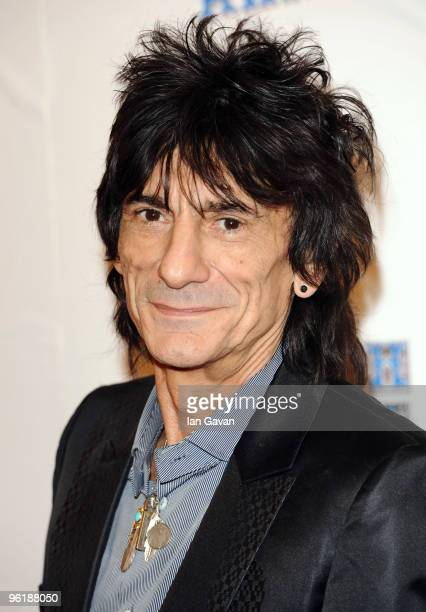 Ronnie Wood attends The South Bank Show Awards at the Dorchester on January 26 2010 in London England