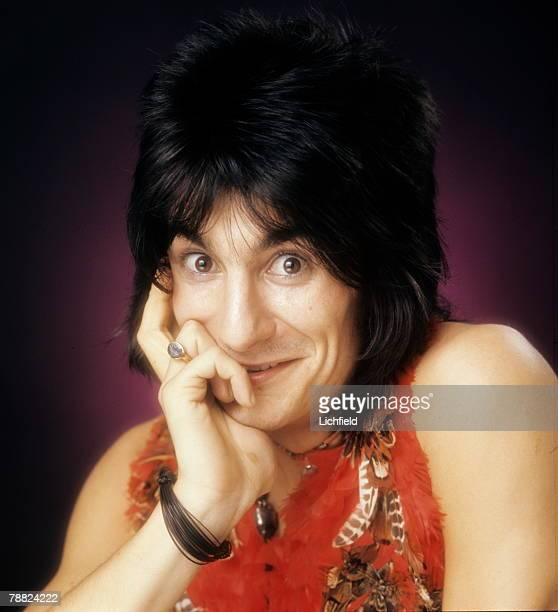 Ronnie Wood British rock guitarist and bassist songwriter producer and artist member of The Rolling Stones formerly with The Faces and The Jeff Beck...