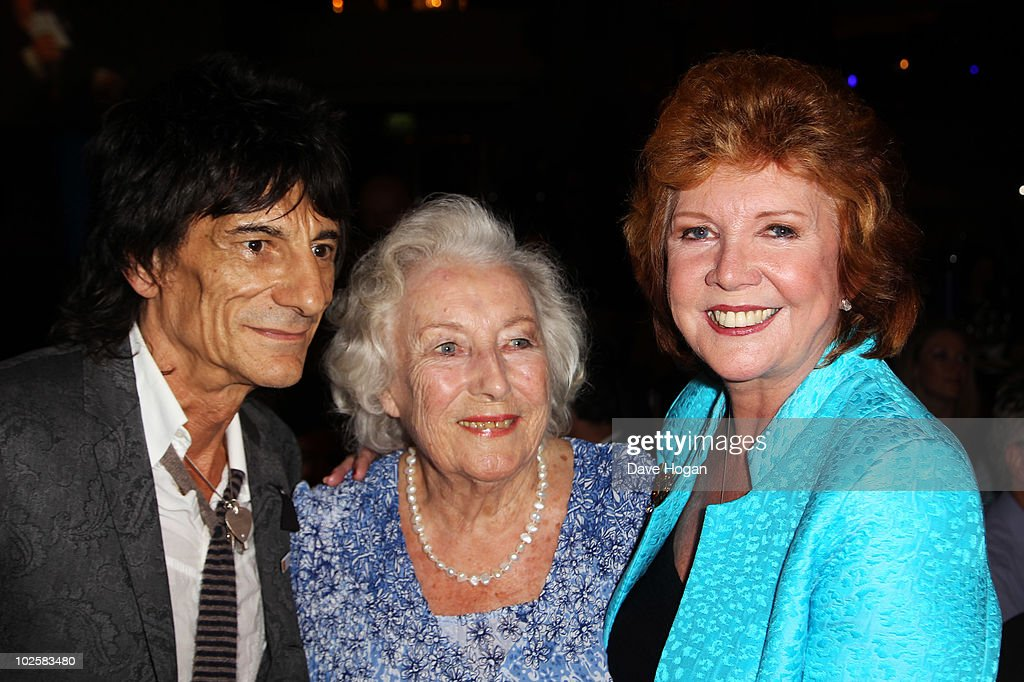 L-R Ronnie Wood, Dame Vera Lynn and Cilla Black attend the auction at The Nordoff Robbins Silver Clef Awards 2010 held at The London Hilton on July 2, 2010 in London, England.