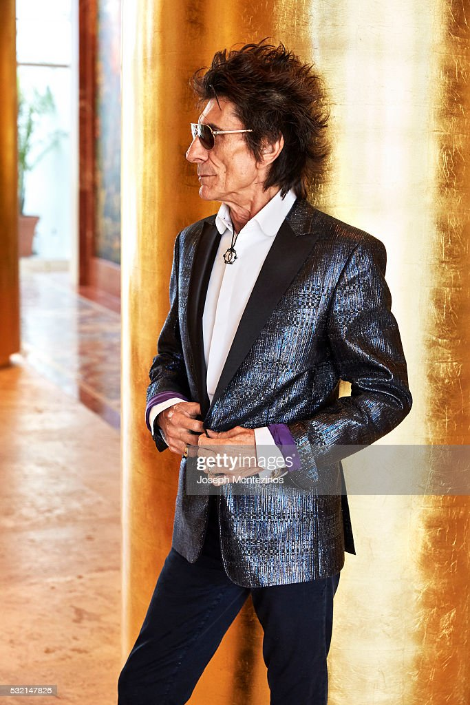 Ronnie Wood is photographed for Hello! UK on March 28, 2016 in Miami, Florida. ON
