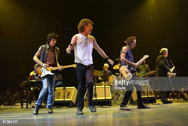Ronnie Wood Mick Jagger Charlie Watts Keith Richards and Bobby Keys of the Rolling Stones