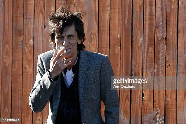Ronnie Wood of The Rolling Stones at Punchestown racecourse on April 30 2015 in Naas Ireland