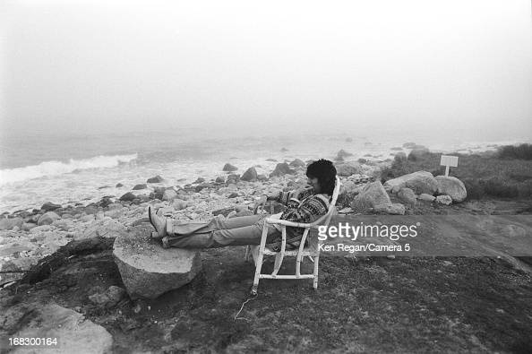 Ronnie Wood of the Rolling Stones is photographed at artist Andy Warhol's home in 1975 in Montauk New York CREDIT MUST READ Ken Regan/Camera 5 via...