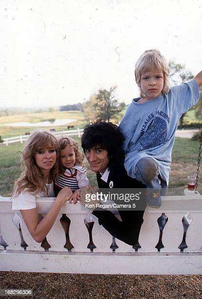 Ronnie Wood of the Rolling Stones Jo Wood and children Leah and Jamie are photographed in 1983 in Los Angeles California CREDIT MUST READ Ken...