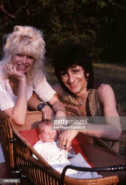 Ronnie Wood of the Rolling Stones Jo Wood and son Tyrone are photographed in 1983 in Los Angeles California CREDIT MUST READ Ken Regan/Camera 5 via...