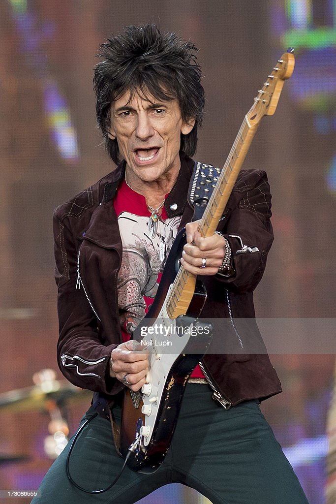 Ronnie Wood of The Rolling Stones performs at day 2 of British Summer Time Hyde Park presented by Barclaycard at Hyde Park on July 6, 2013 in London, England.