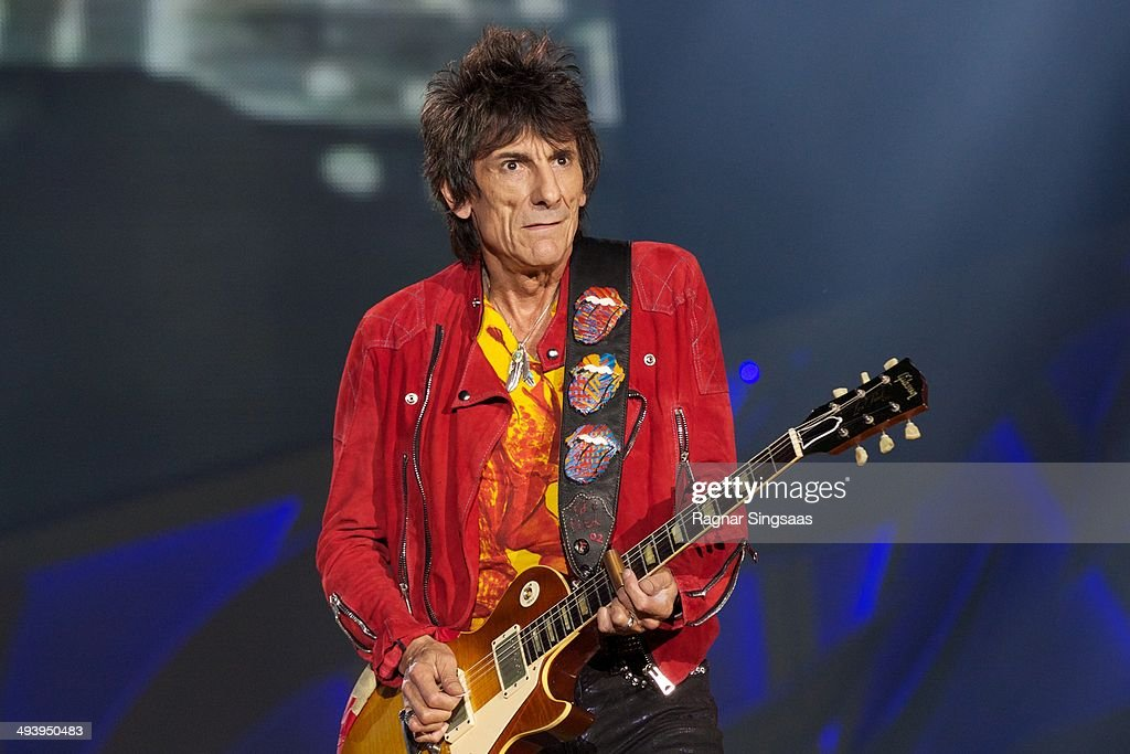 Ronnie Wood of The Rolling Stones performs live on stage on May 26, 2014 in Oslo, Norway.