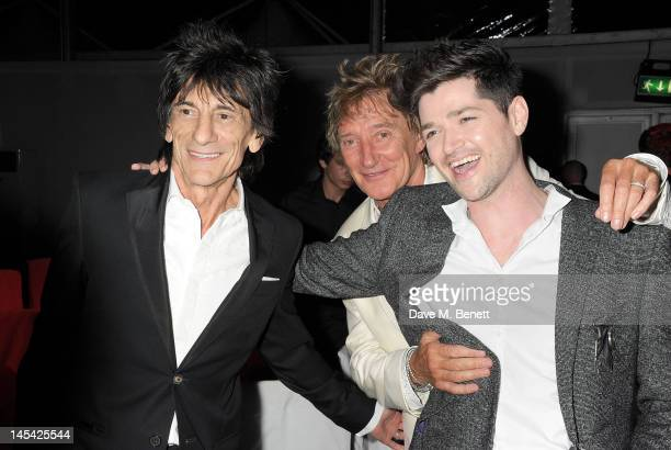 Ronnie Wood Rod Stewart and Danny O'Donoghue attend an after party following the Glamour Women of the Year Awards in association with Pandora at...