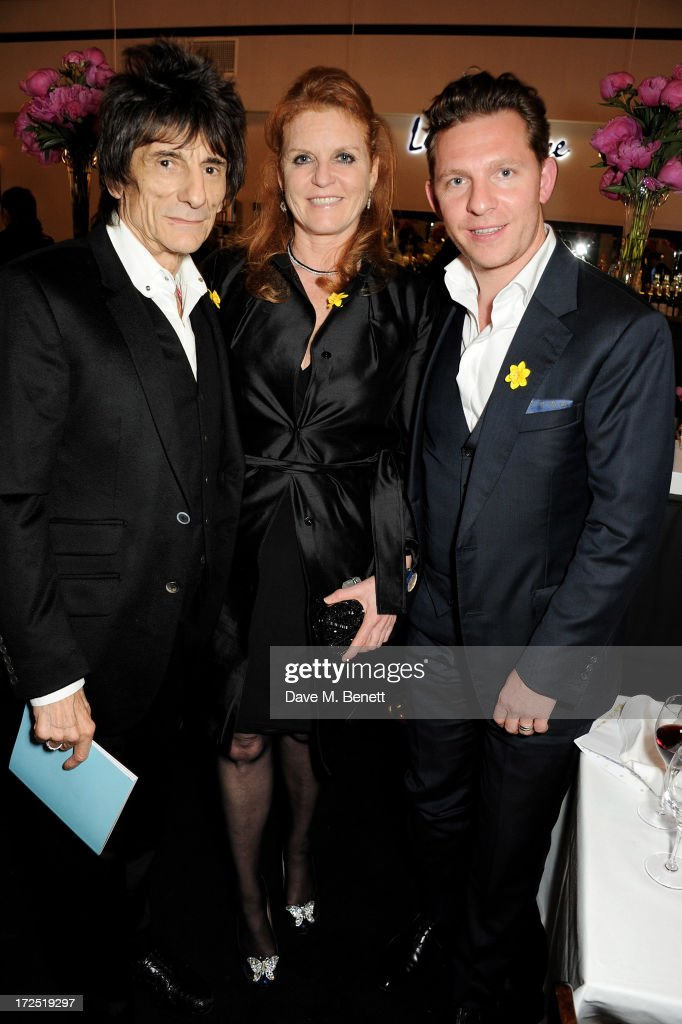 Ronnie Wood, <a gi-track='captionPersonalityLinkClicked' href=/galleries/search?phrase=Sarah+Ferguson+-+Duchess+of+York&family=editorial&specificpeople=160596 ng-click='$event.stopPropagation()'>Sarah Ferguson</a>, Duchess of York and <a gi-track='captionPersonalityLinkClicked' href=/galleries/search?phrase=Nick+Candy&family=editorial&specificpeople=2204833 ng-click='$event.stopPropagation()'>Nick Candy</a> attend The Masterpiece Midsummer Party in aid of Marie Curie Cancer Care, hosted by Heather Kerzner, at The Royal Hospital Chelsea on July 2, 2013 in London, England. Marie Curie Nurses provide free end of life care to patients with terminal illness in their own homes or in one of its nine hospices.