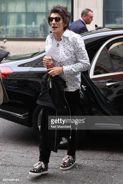 Ronnie Wood seen at BBC Radio 2 on August 16 2017 in London England