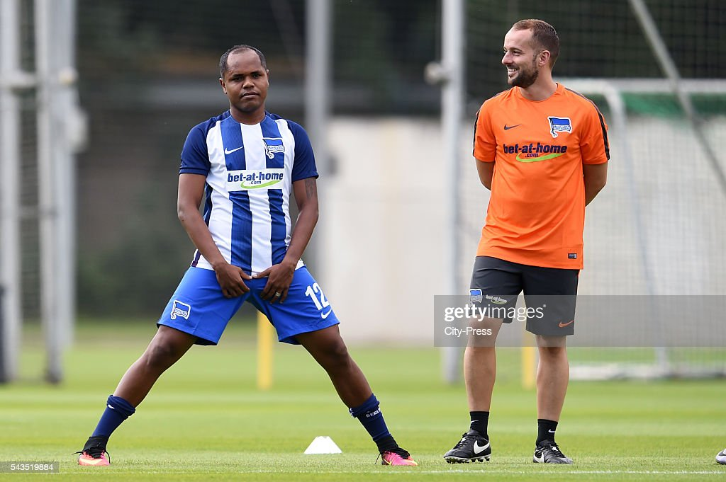 Ronny and assistant coach Admir Hamzagic of Hertha BSC during the training on june 29, 2016 in Berlin, Germany.