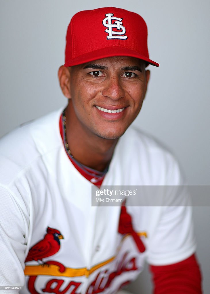 Ronny Cedeno #16 of the St. Louis Cardinals poses during photo day at Roger Dean Stadium on February 19, 2013 in Jupiter, Florida.