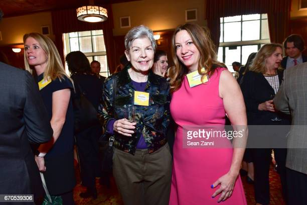 Ronny Cohen and Christine Berry attend the Appraisers Association of America 13th Annual Award Luncheon at New York Athletic Club on April 19 2017 in...