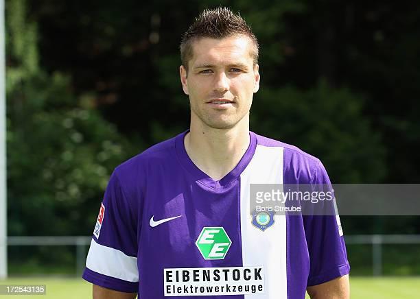 Ronny Koenig of Aue poses during the Second Bundesliga team presentation of Erzgebirge Aue on June 2 2013 in Aue Germany