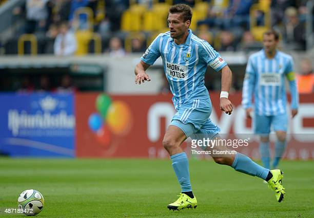 Ronny Koenig of Chemnitz in action during the Third League match between SG Dynamo Dresden and Chemnitzer FC at Stadion Dresden on September 6 2015...