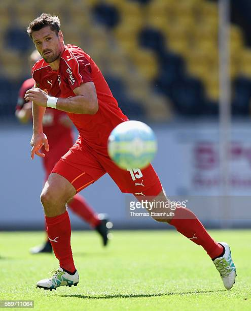 Ronny Koenig of Zwickau during the Third League match between FSV Zwickau and SV Wehen Wiesbaden at DDVStadion on August 13 2016 in Dresden Germany