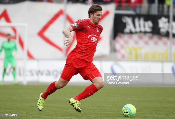 Ronny Koenig of Zwickau during the Third League match between FSV Zwickau and Fortuna Koeln on April 23 2017 at Stadion Zwickau in Zwickau Germany