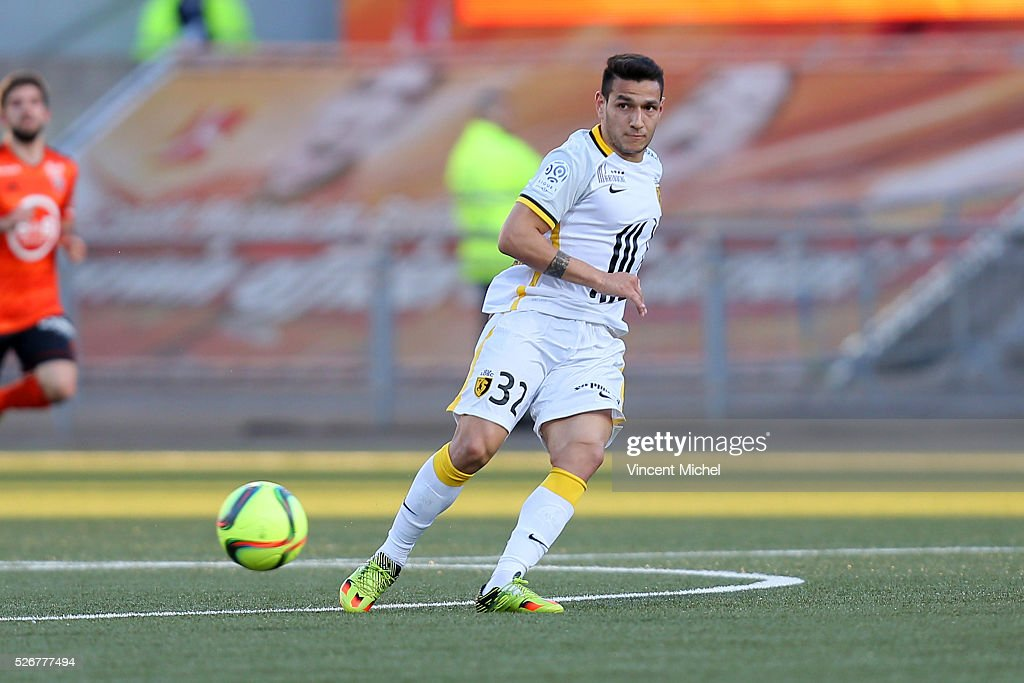 Ronny Lopes of Lille during the French Ligue 1 match between Fc Lorient and Lille OSC at Stade du Moustoir on April 30 2016 in Lorient France