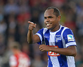 Ronny of Hertha BSC celebrate his opening goal during the Bundesliga match between SC Freiburg and Hertha BSC at Mage Solar Stadium on September 19...