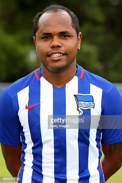 Ronny poses during the Hertha BSC team presentation on July 10 2015 in Berlin Germany