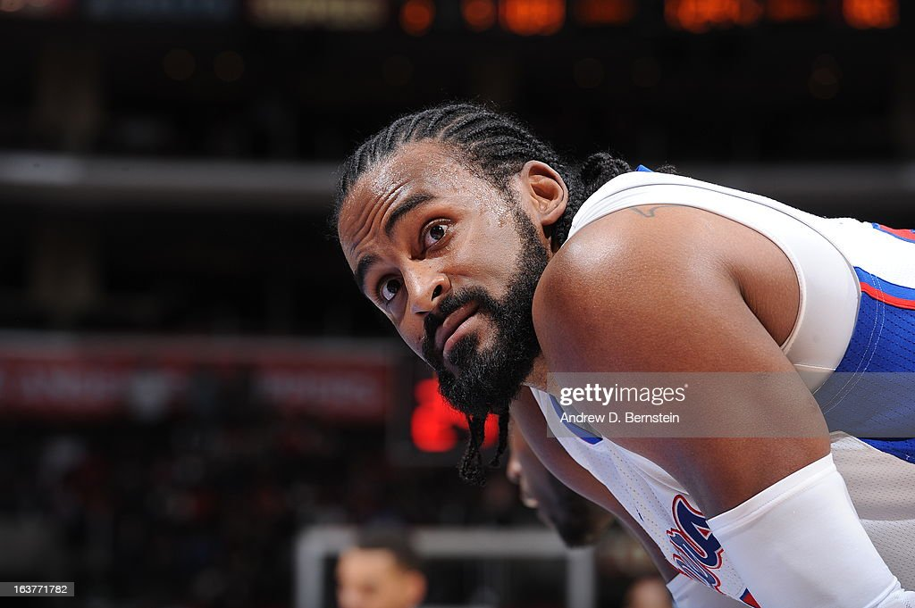 <a gi-track='captionPersonalityLinkClicked' href=/galleries/search?phrase=Ronny+Turiaf&family=editorial&specificpeople=224998 ng-click='$event.stopPropagation()'>Ronny Turiaf</a> #21 of the Los Angeles Clippers awaits the result of a foul shot during the game against the Charlotte Bobcats at Staples Center on February 26, 2013 in Los Angeles, California.