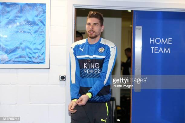 RonRobert Zieler arrives ahead of the Emirates FA Cup Fourth Round Replay match between Leicester City and Derby County at King Power Stadium on...