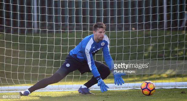 RonRobert Zieler during the Leicester City training session at Belvoir Drive Training Complex on February 07 2017 in Leicester United Kingdom