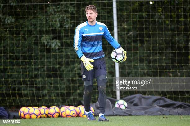 RonRobert Zieler during the Leicester City training session at Belvoir Drive Training Complex on February 16 2017 in Leicester United Kingdom