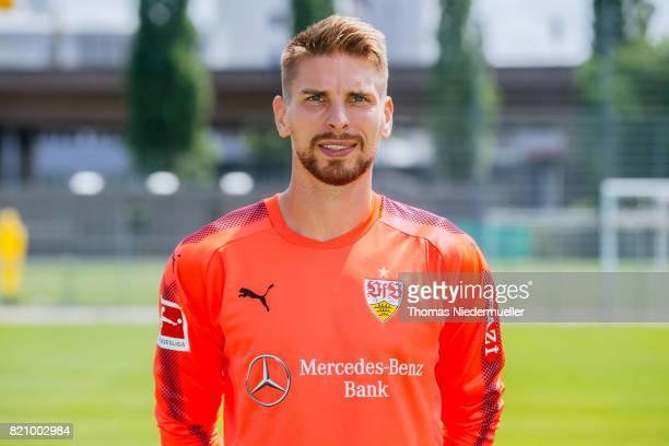RonRobert Zieler of VfB Stuttgart poses during the VfB Stuttgart team presentation at training ground on July 21 2017 in Stuttgart Germany