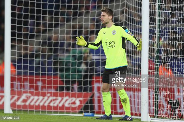 RonRobet Zieler of Leicester City in action during The Emirates FA Cup Fourth Round Replay beteween Leicester City and Derby County at The King Power...