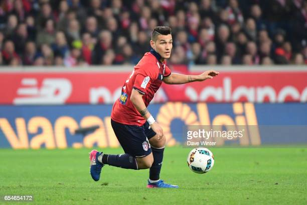 Rony Lopes of Lille during the Ligue 1 match between Lille OSC and Olympique de Marseille at Stade Pierre Mauroy on March 17 2017 in Lille France