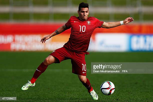 Rony Lopes of Portugal in action during the FIFA U20 World Cup New Zealand 2015 quarter final match between Brazil and Portugal held at Waikato...