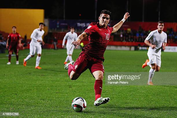 Rony Lopes of Portugal kicks the ball through during the FIFA U20 World Cup New Zealand 2015 Round of 16 match between Portugal and New Zealand at...