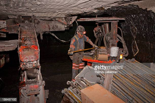 Roof Bolter in Coal Mine