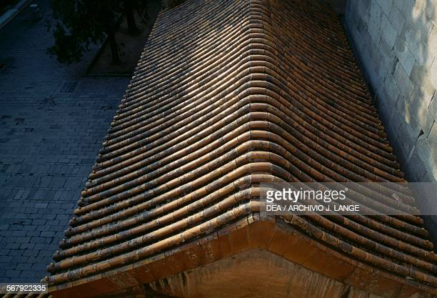 Roof of a pavilion of the Summer palace Beijing China 19th century