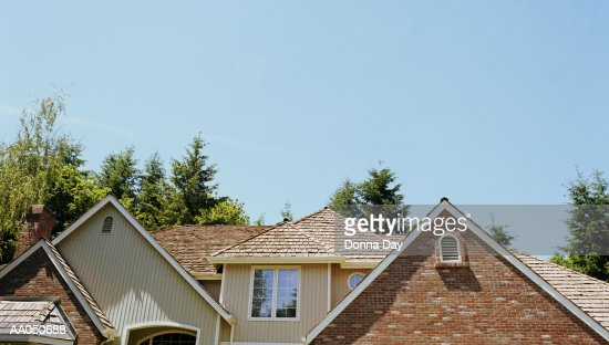 Roof of house, high section : Stock Photo