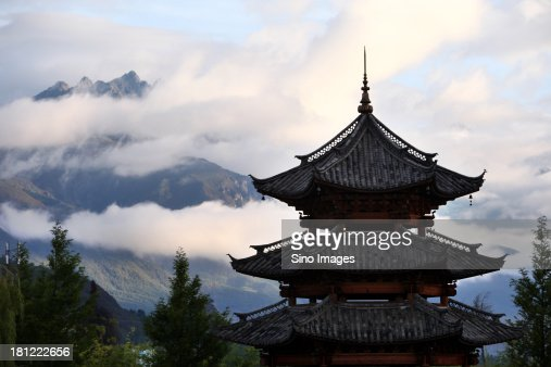 Roof of pavilion,Yunnan Lijiang
