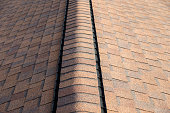 Shingles on a residential house.