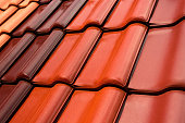 Roofing tiles in various colors